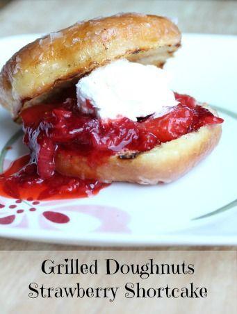Grilled Doughnuts Strawberry Shortcake ~ 4 ingredients; so easy!   5DollarDinners.com