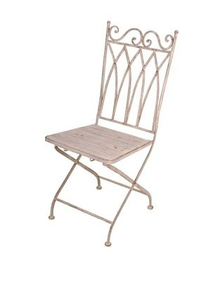44% OFF Esschert Design USA Aged Metal Folding Square-Back Bistro Chair