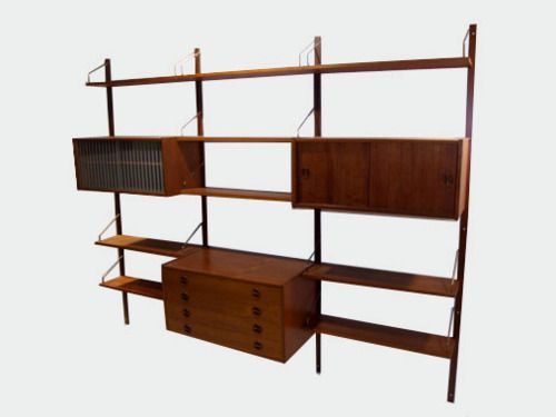 mid-century, modern, danish, wall unit, shelf, shelves, furniture, design,
