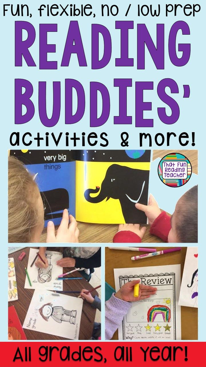 Fun, no / low prep Reading Buddy Activities for any grade! | That Fun Reading Teacher $