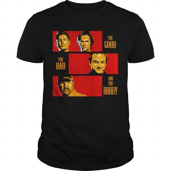 Awesome Tee Supernatural Tees  The Good The Bad And The Bobby TShirt T-Shirts