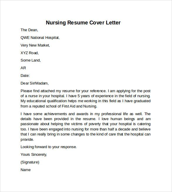 sample nursing cover letter example registered nursing cover registered nurse cover letter template cover letter - Resume Cover Letter Examples For Nurses