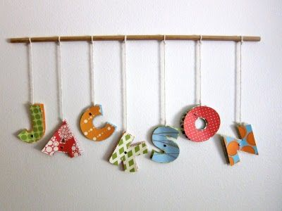 Love name: Nurseries, Boys Rooms, Cute Ideas, Fish Pole, Names Art, Baby Rooms, Names Wall Art, Kids Rooms, Mobile