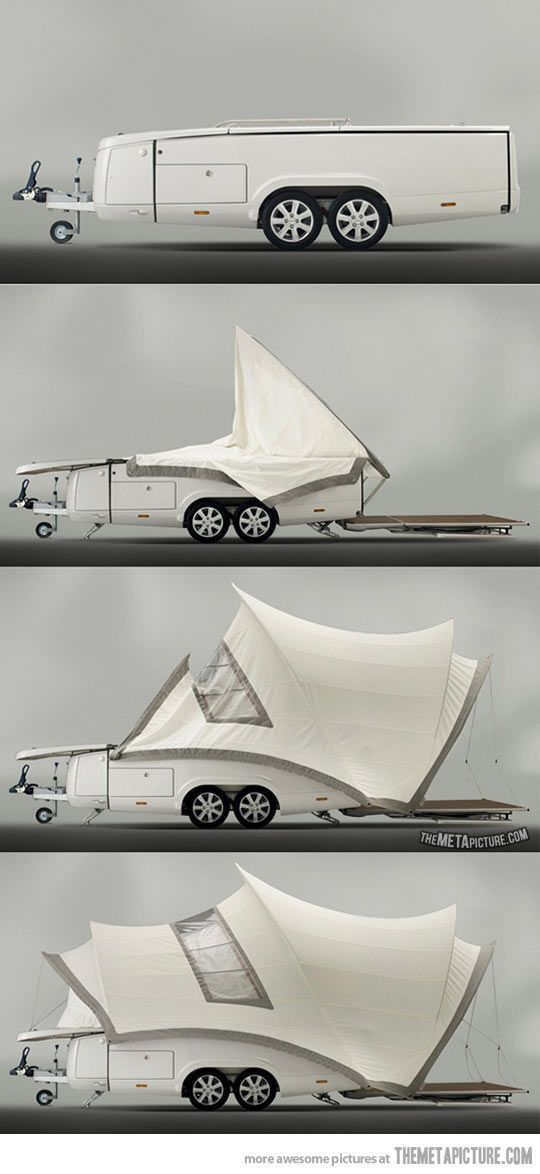 The ultimate in luxury camping…Very Clever...
