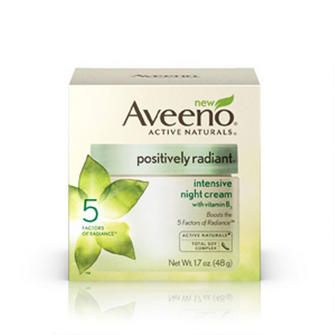 Aveeno Positively Radiant Intensive Night Cream... my new favorite beauty product. My skin has improved SO much since I started using this stuff.