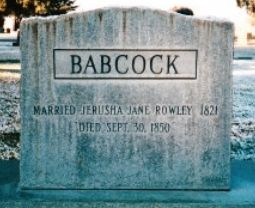 Jerusha Jane Rowley Babcock (1802 - 1850) - Find A Grave Photos