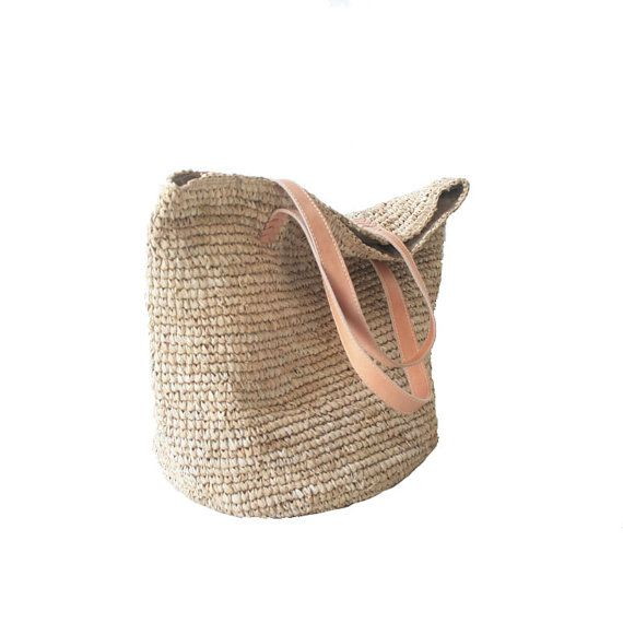 Chic Straw Beach Bag Oversized Beach Bag Summer Tote by MOOSSHOP