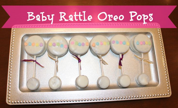 Baby Shower Dessert Ideas: Baby Rattle Oreo Pops - everyone will love these fun and delicious pops #babyshower