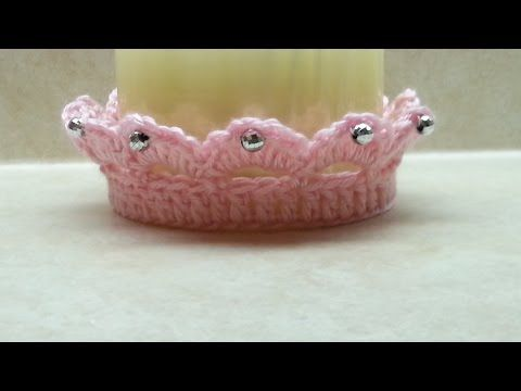 #Crochet Cute Baby Crown Tiara #TUTORIAL CROCHET BABY DIY FREE - YouTube
