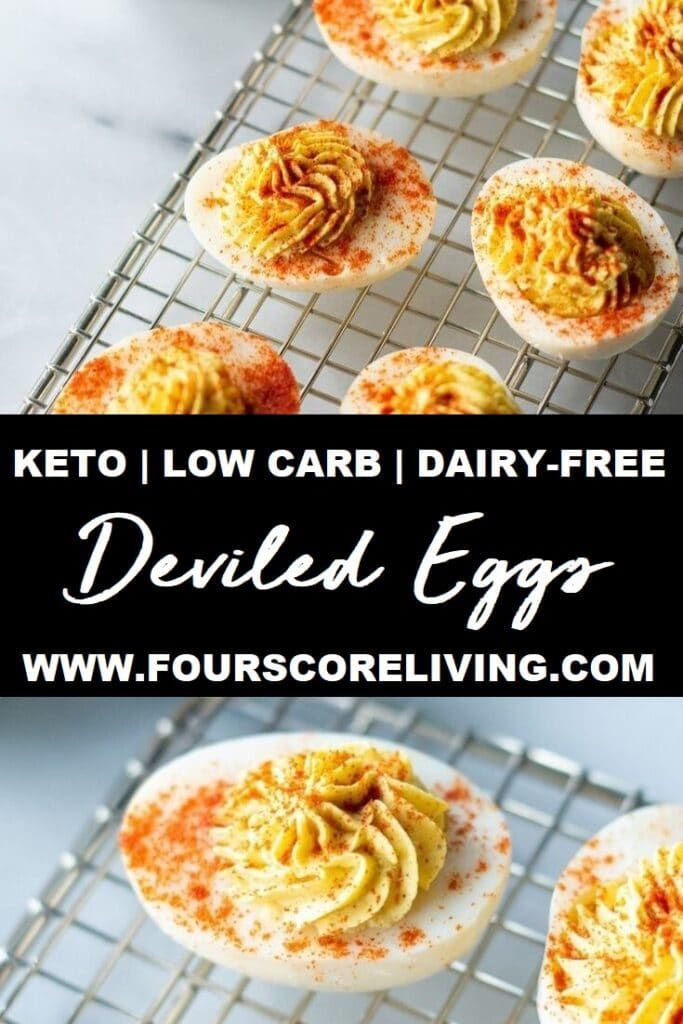 Zero carbs! Easy-to-make keto deviled eggs that are tangy, flavorful and perfect…