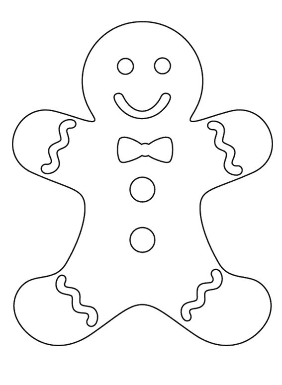 Gingerbread Girl Pa Coloring Pages