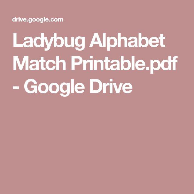 Ladybug Alphabet Match Printable.pdf   Google Drive