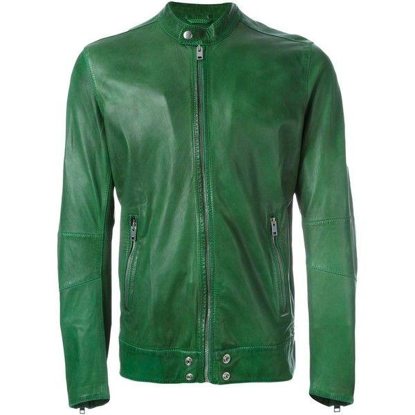 Dark Green Leather Jacket Mens - My Jacket