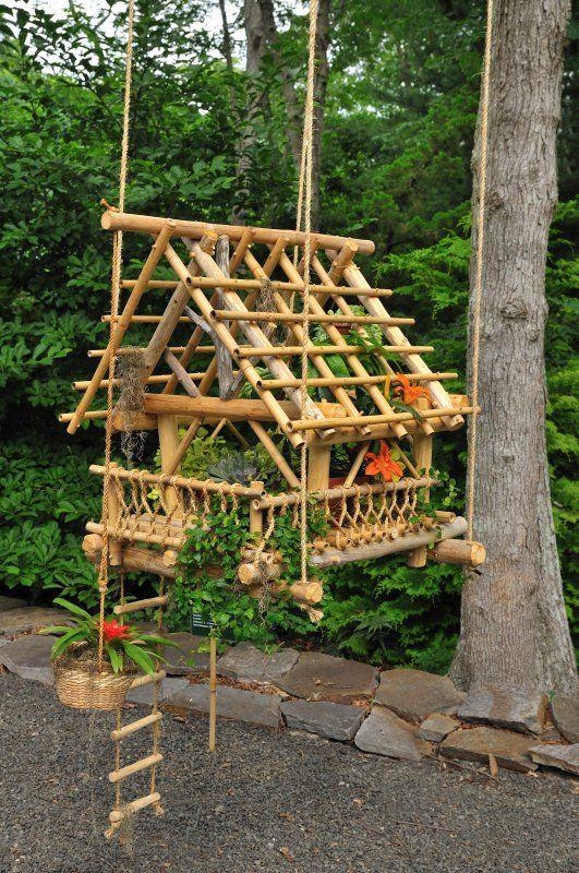 casinha de bambu.