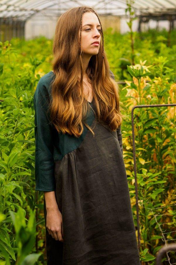 Issue #2 - D-due LAB: Yellow Mountain | Sketch Dress #dduelab #dress #linen #green