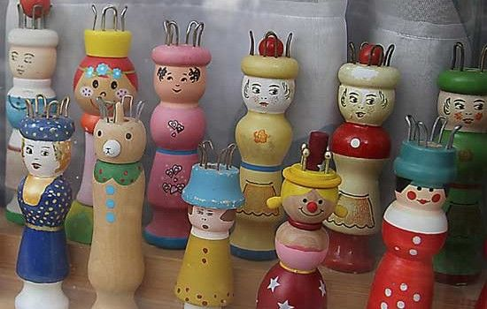 Antique Figural Knitting Spools