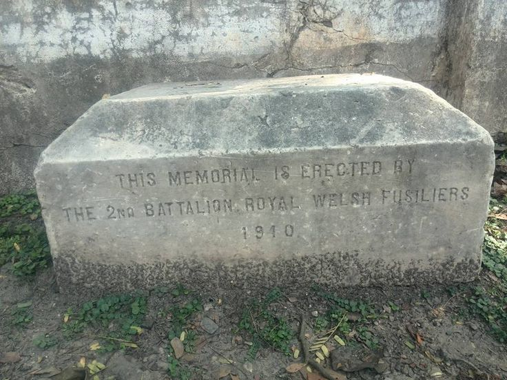 2 RWF Memorial beside the street in Bhamo, Kachin State, Burma. Placed there 1910. No more details known.