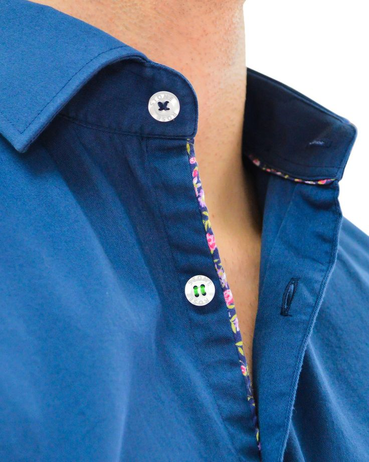 Stone Rose Solid Navy Designer Dress Shirt - NAVY