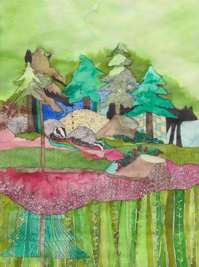 """""""Za stromem"""" od autora moho www.artsell.cz"""