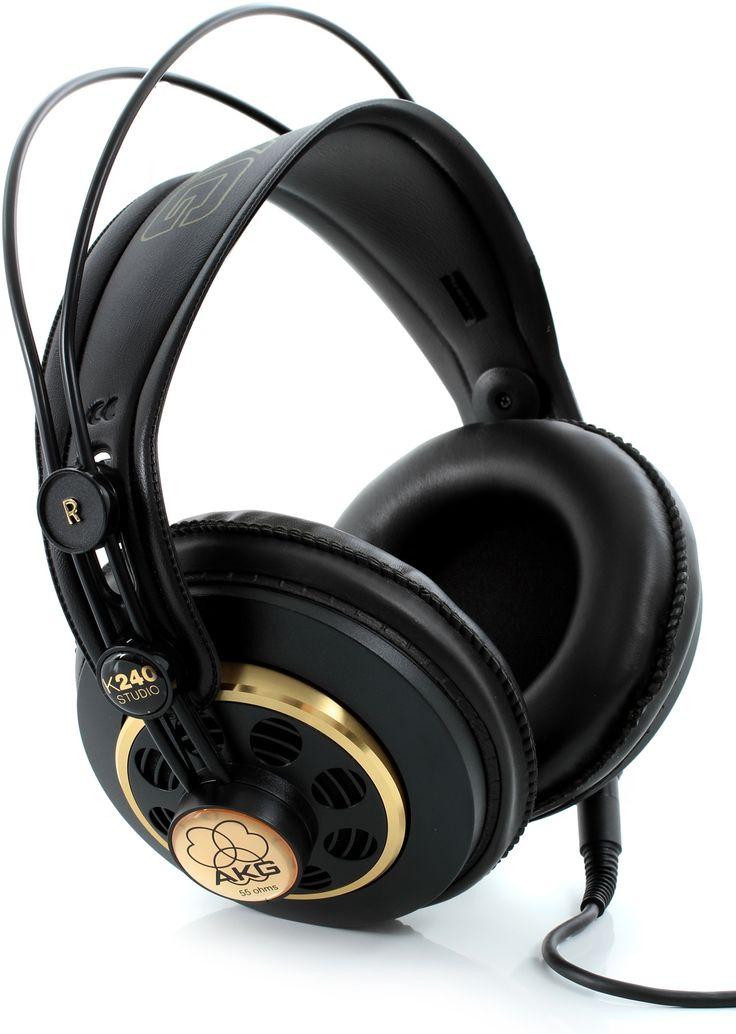 $69.99 AKG K240 Studio Semi-open Headphones | Sweetwater.com
