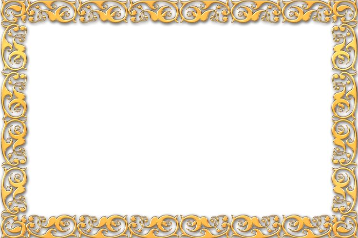 Simple Gold Frame Border Simple gold frame border