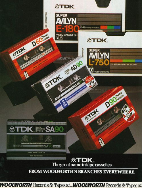 80stechnology: TDK Woolworths ad 1984