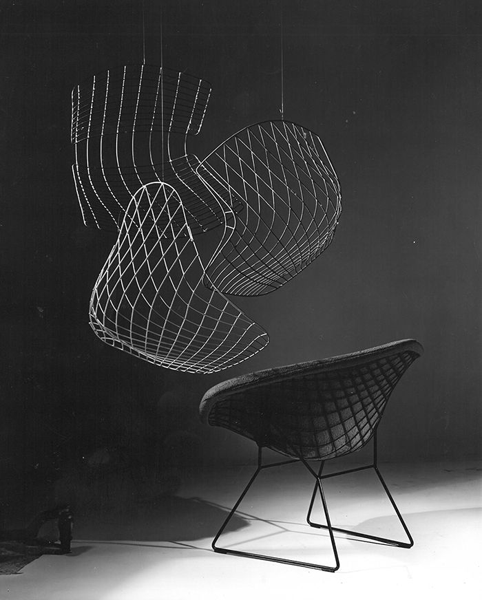Making Bertoia | Publicity image for Bertoia Diamond Chair | PC: Herbert Matter | Knoll Inspiration