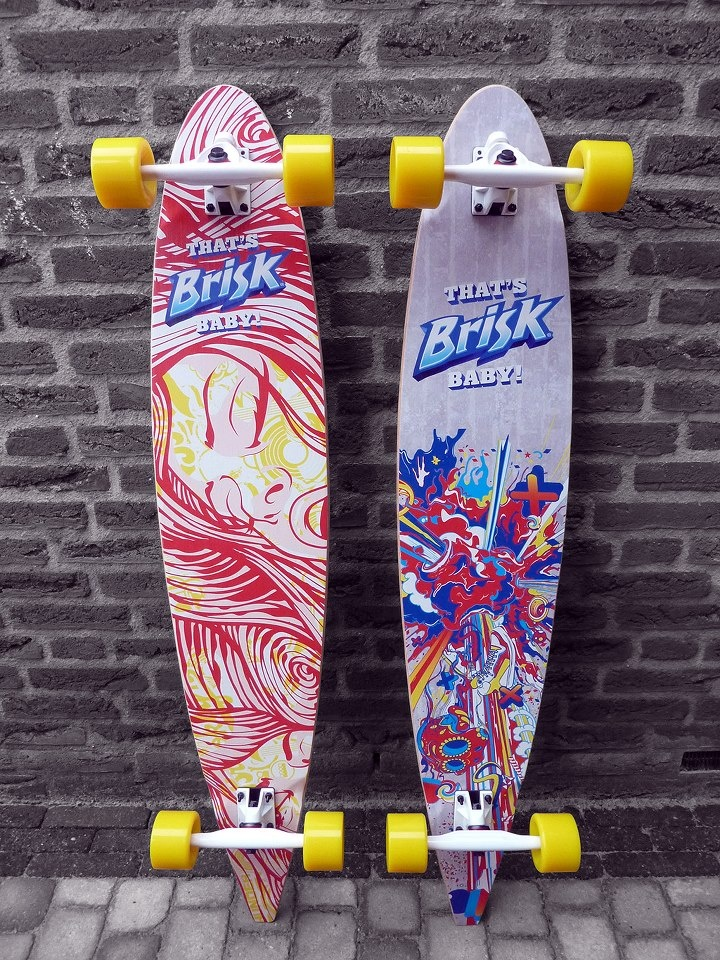 Thats Brisk Baby - custom pintail longboards