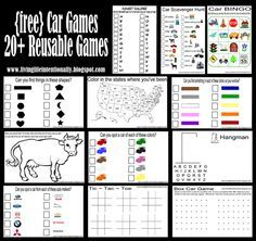 road trip printables - no need for me to redraw hangman, etc.. (she also has a neat way to do scratch offs for future use)
