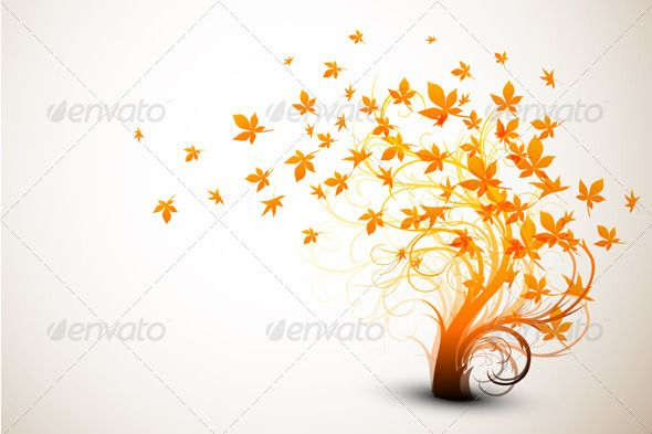 Autumn+Tree+|+Clean+Vector+Composition