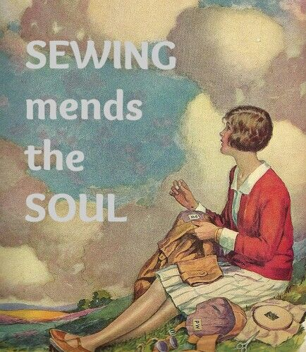 Maggie Gee Needlework Studio* / neat picture for a sewing room wall...                                                                                                                                                      More