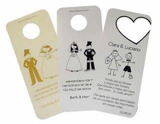 Para Noiva: Tag Para Carro Personalize o seu