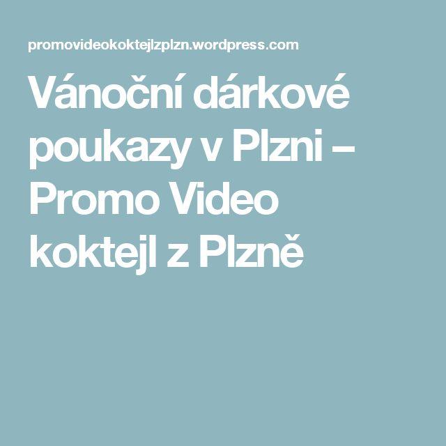 Vánoční dárkové poukazy v Plzni – Promo Video koktejl z Plzně