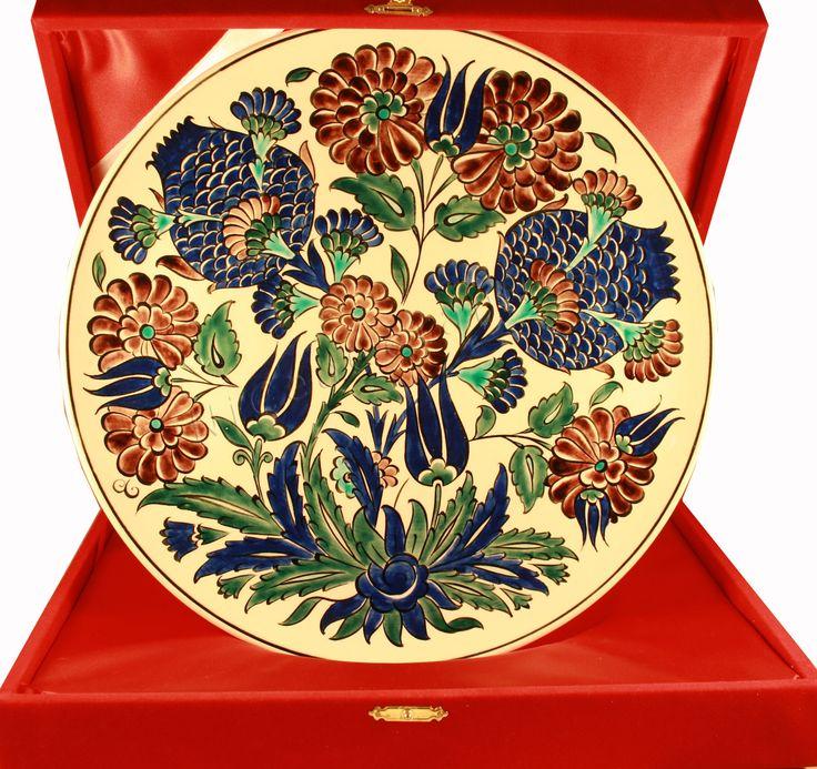 Turkish Ceramic Plate Type Damascus Home Decor by NiceaCeramics