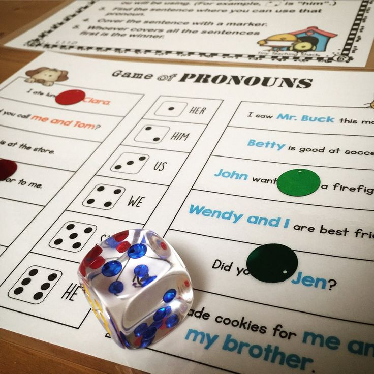 personal, possessive, and indefinite pronouns- literacy center activities