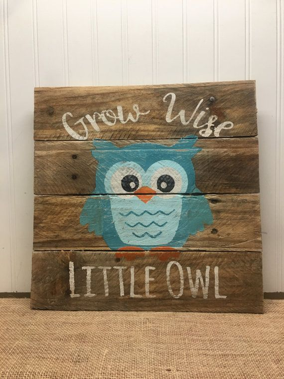 Hey, I found this really awesome Etsy listing at https://www.etsy.com/listing/474793482/rustic-pallet-wall-art-wise-owl-woodland