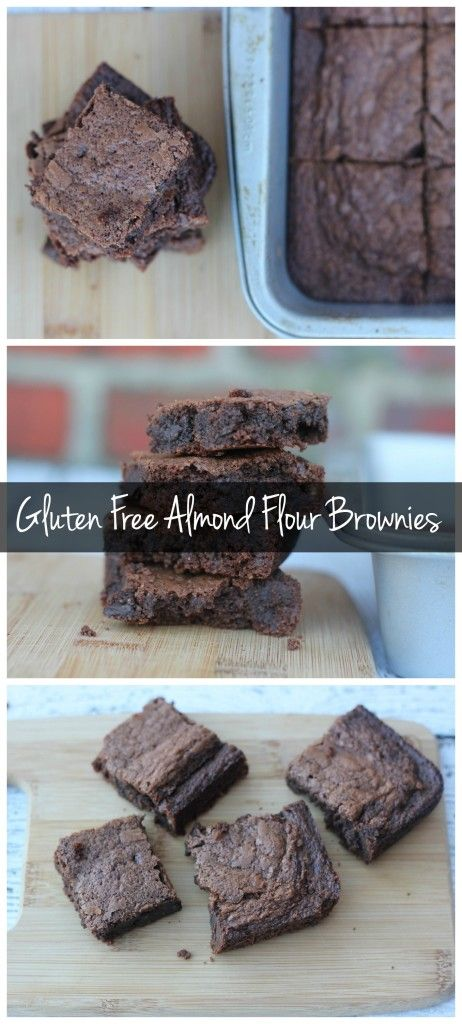 These fudgey, gluten free brownies are made with almond flour! They're dense and chocolatey, and easy to make!
