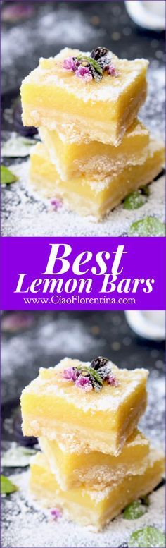 Best Lemon Bars Recipe | http://CiaoFlorentina.com @CiaoFlorentina