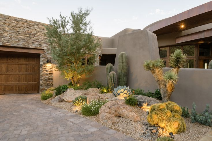 lighted tree and boulders arizona outdoor designs.com  Low Voltage LED Lighting