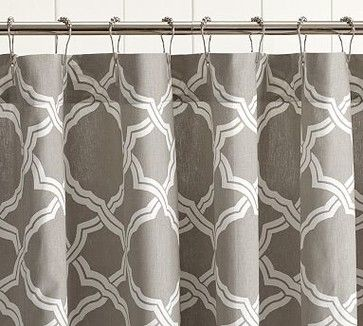 Kendra Trellis Shower Curtain, Brownstone   Traditional   Shower Curtains    Pottery Barn