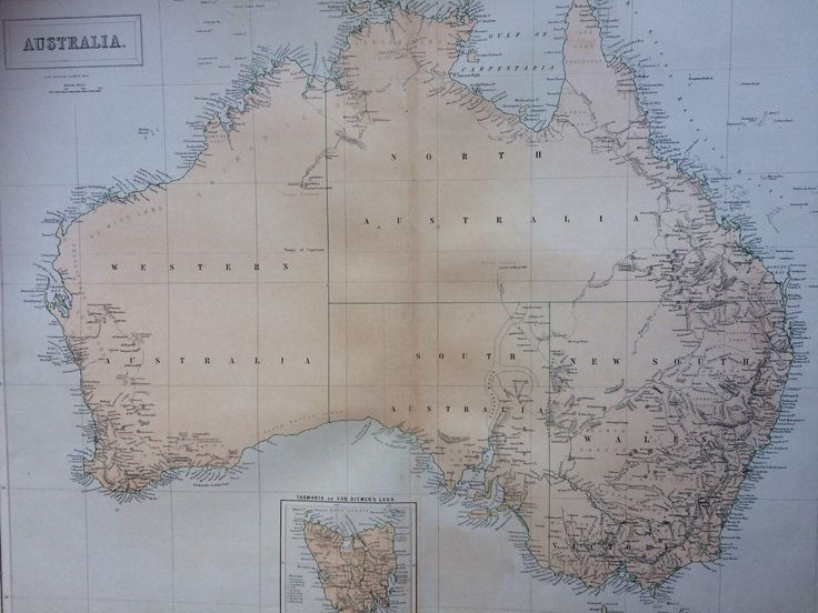 1859 AUSTRALIA extra large rare original antique A & C Black Map showing latest discoveries inland and inset of Tasmania by NinskaPrints on Etsy https://www.etsy.com/uk/listing/517533069/1859-australia-extra-large-rare-original