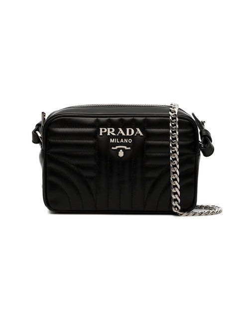 02c5166856de49 Prada Black Diagramme Leather Cross Body Bag - Farfetch | Purses in ...
