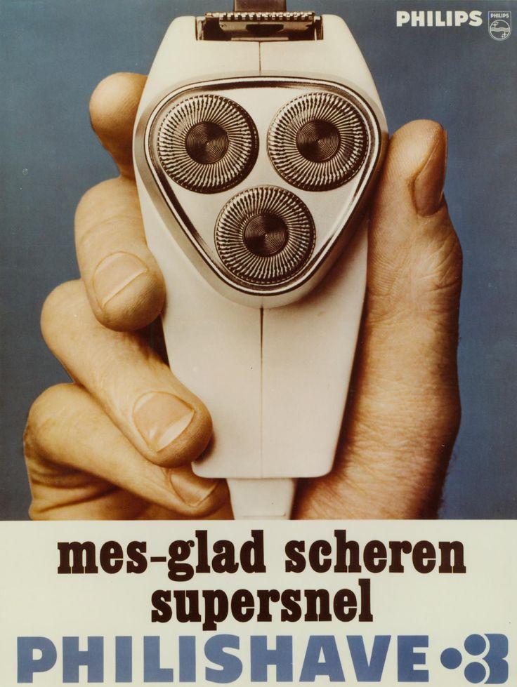 reclameposter voor de Philishave 3, 1967