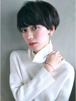 ナヌーク 渋谷店(nanuk) 【nanuk】黒髪に近いダーク系のカラーにオススメなショート◇