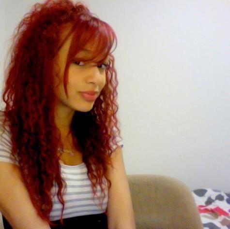 red curly hair mixed race model jennifer okolie