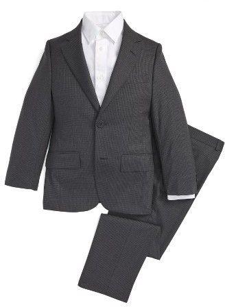 Boy's Jb Jr Screen Weave Wool Suit