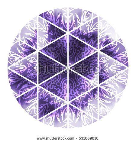 Watercolor geometry mandala