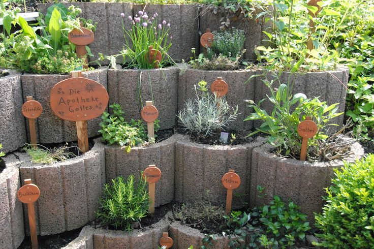 Kräutergarten aus Pflanzringen