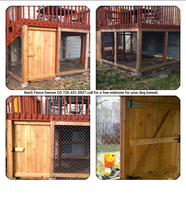 Dog kennel under deck by KenG Fence Denver CO call 720.431.0927 anytime for a free estimate.