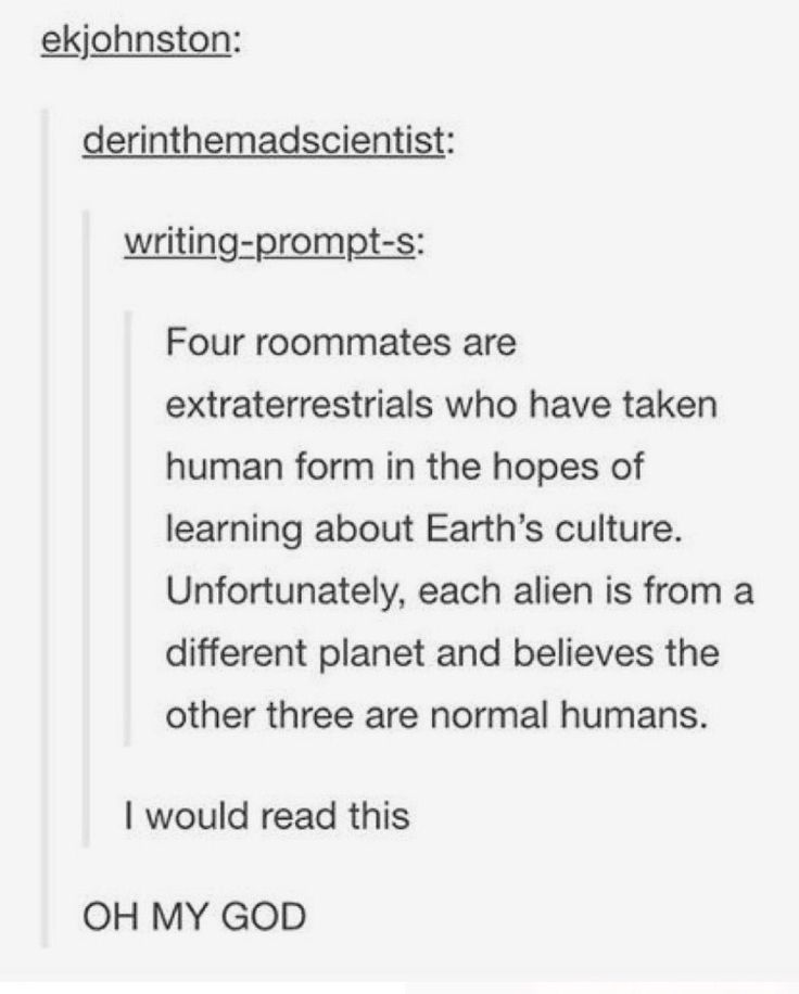 Someone please write it. It could be better than third rock from the sun and hetalia.